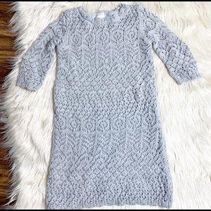 Cat & Jack girls dress shine gray crochet size 4/5